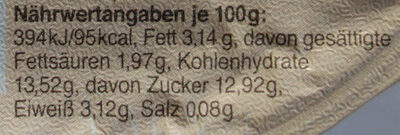 Fruchtbecher Aprikose - Nutrition facts