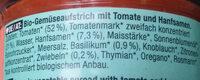 Hanfaufstrich Tomate - Ingrediënten - de