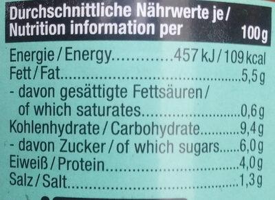 Hanfaufstrich Tomate - Voedingswaarden - de