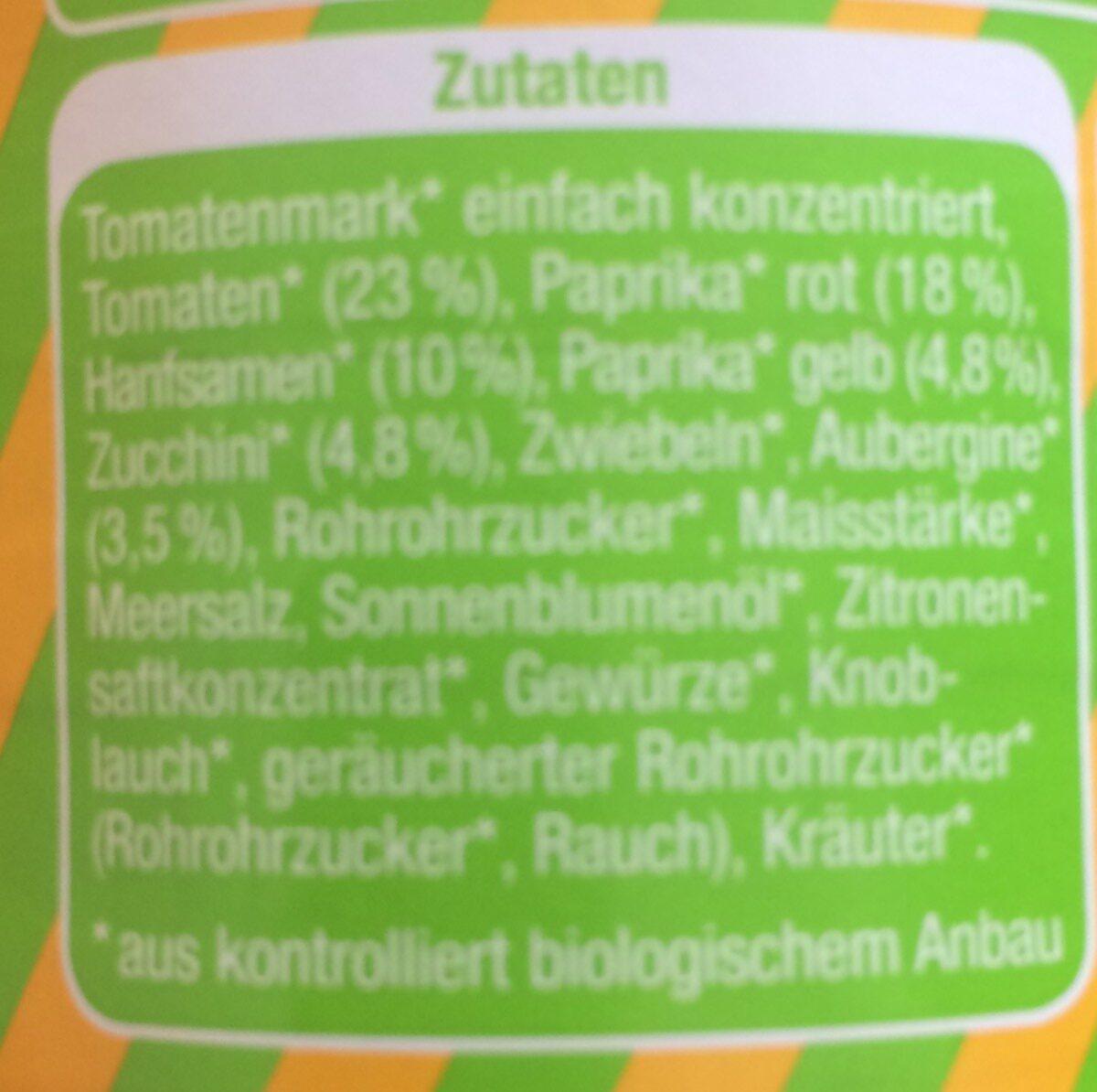 Hanfaufstrich - Ingrediënten - fr