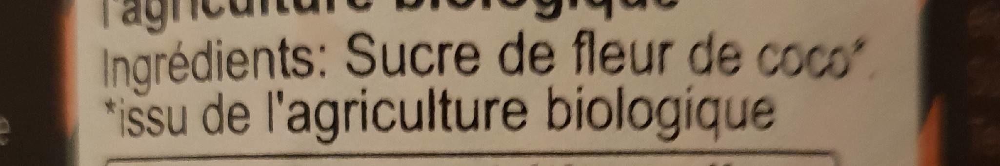 Kokosblüten-zucker :  vegan - Ingrediënten - fr