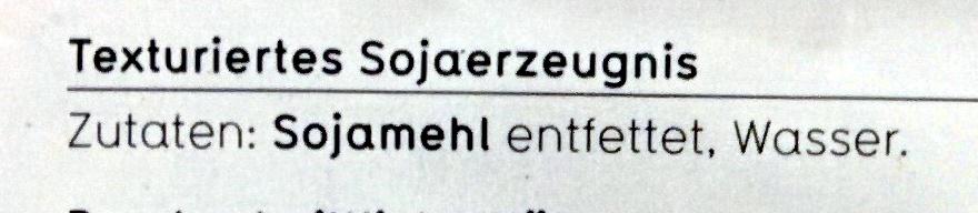 Soja Granulat - Inhaltsstoffe - de