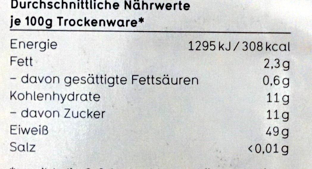 Soja Granulat - Nährwertangaben - de