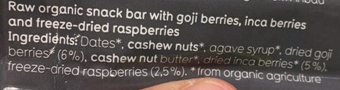 Inca Goji Raspberry Vegan - Ingredients - fr