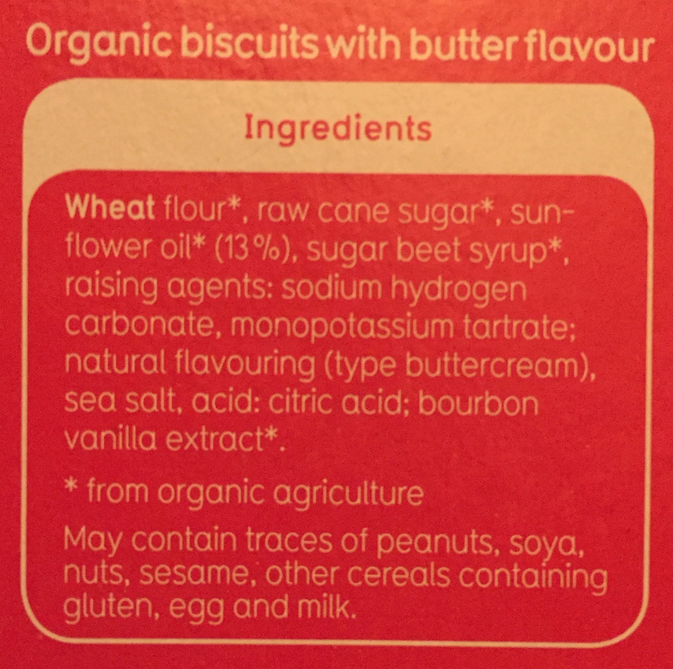 Der Keks - Ingredients