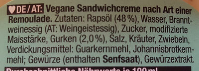Sandwichcreme - Dänische Art - Ingredienti - fr