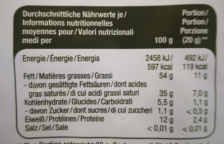 kakao-nips - Informations nutritionnelles