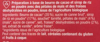 Veganz Weiße Rice Choc Erdbeer crisp Fraises Croustillantes - Ingrédients