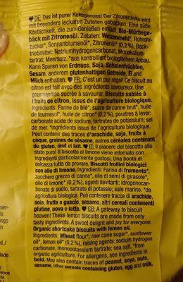 Lemon biscuits - Ingredienti - fr