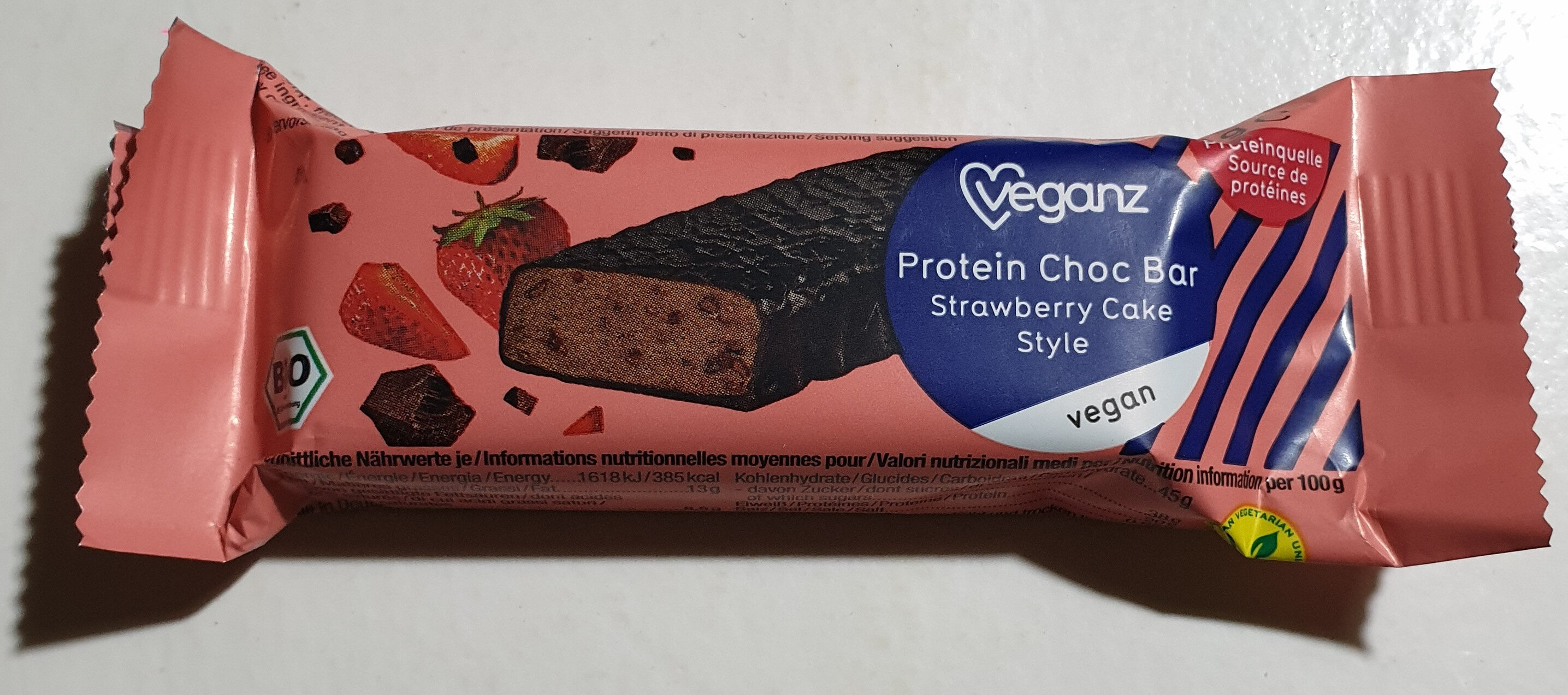 Protein Choc Bar Strawberry Cake Style - Produit - de