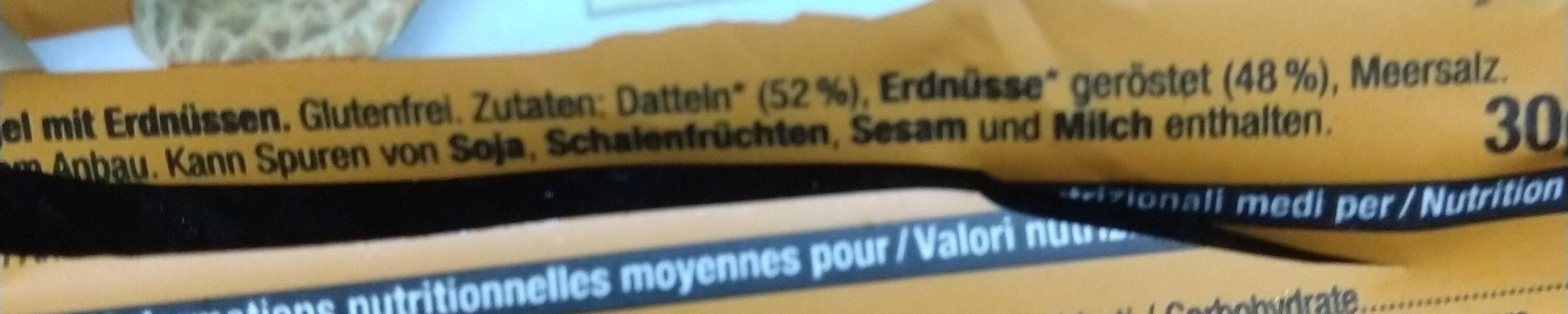 snack bar peanut - Ingredients