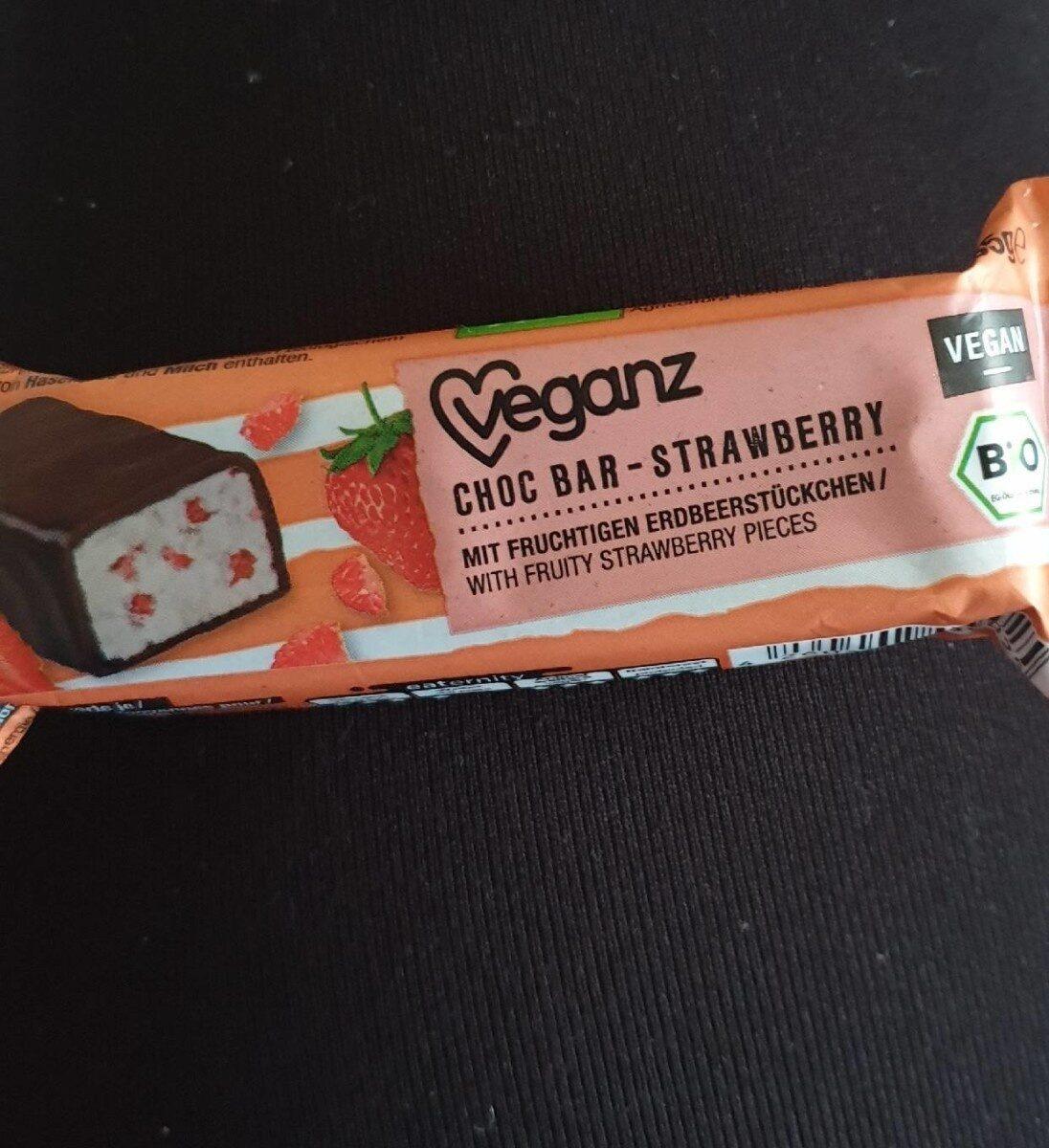Choco bar strawberry - Voedingswaarden - fr