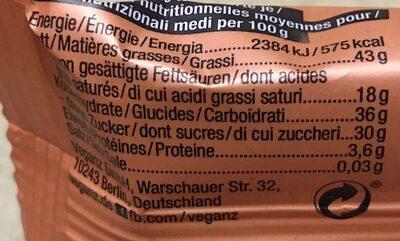 Choc bar- caramel - Nährwertangaben - de