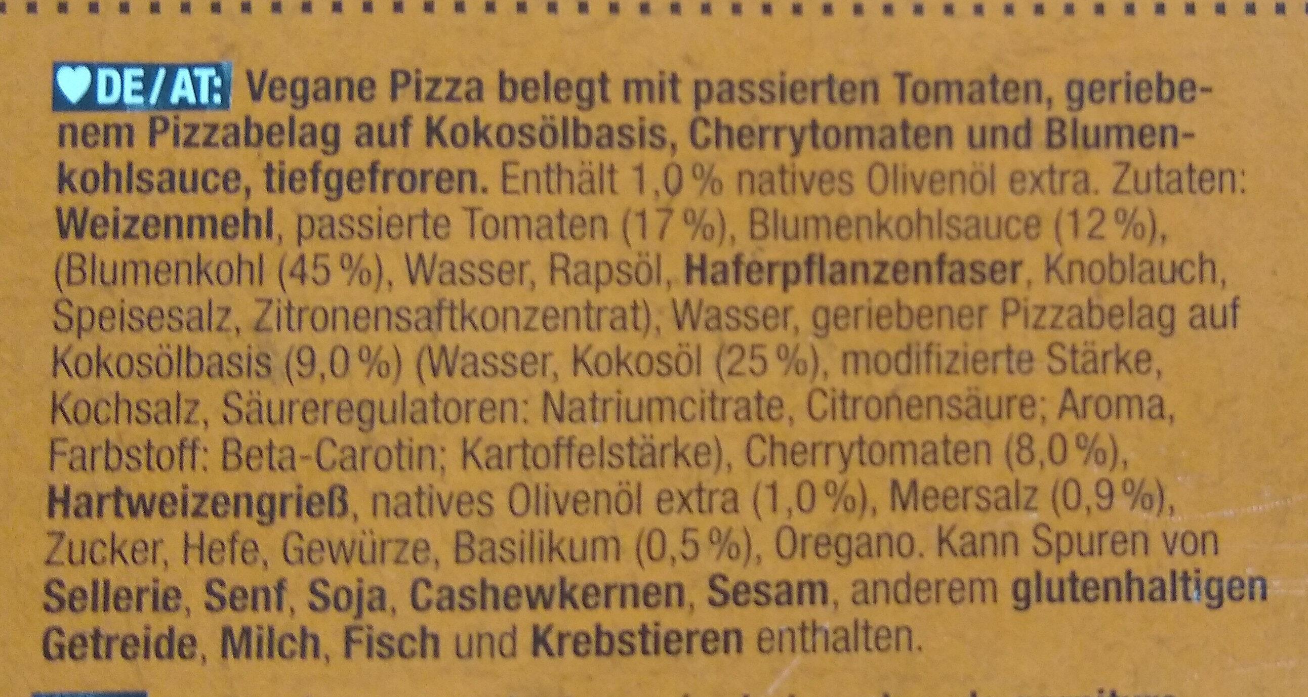 Pizza tricolore - Zutaten - de