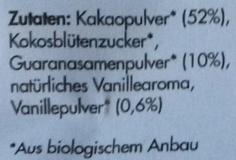 Koawach Vanille - Inhaltsstoffe