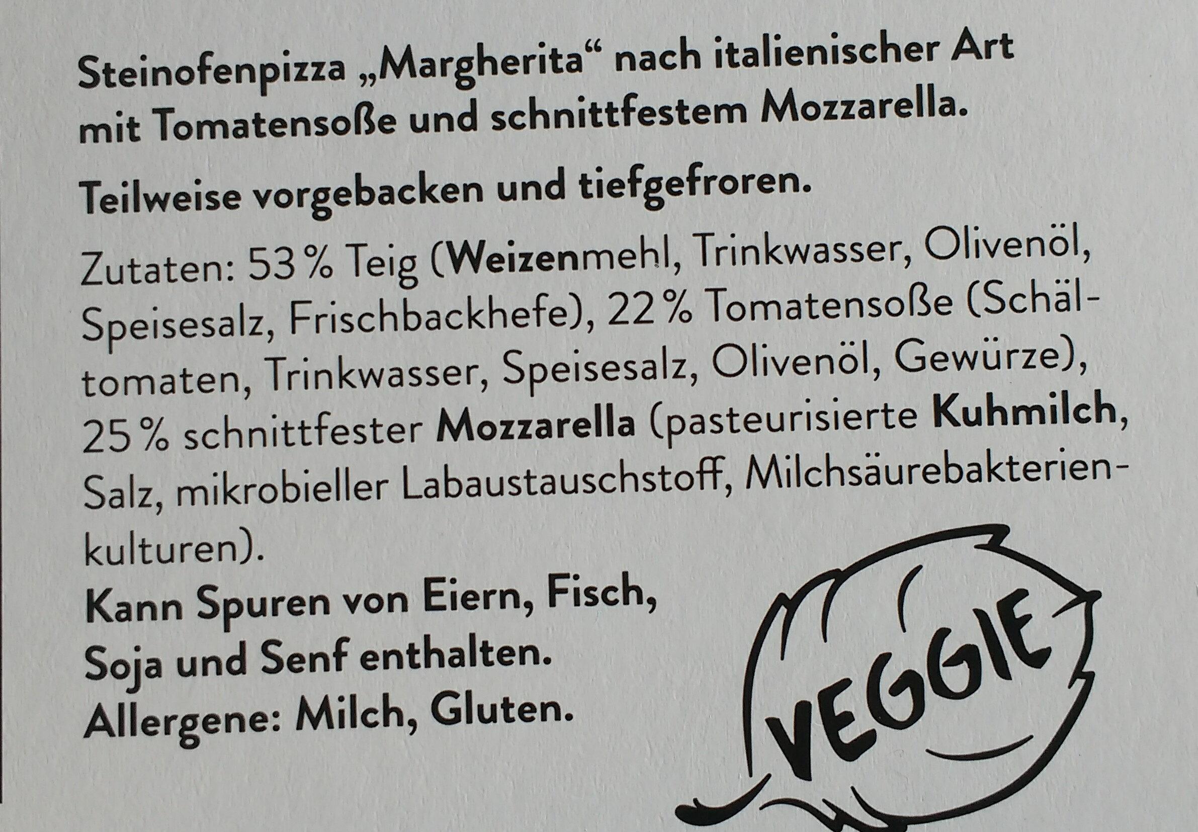 Pizza Margherita - Ingrédients - de