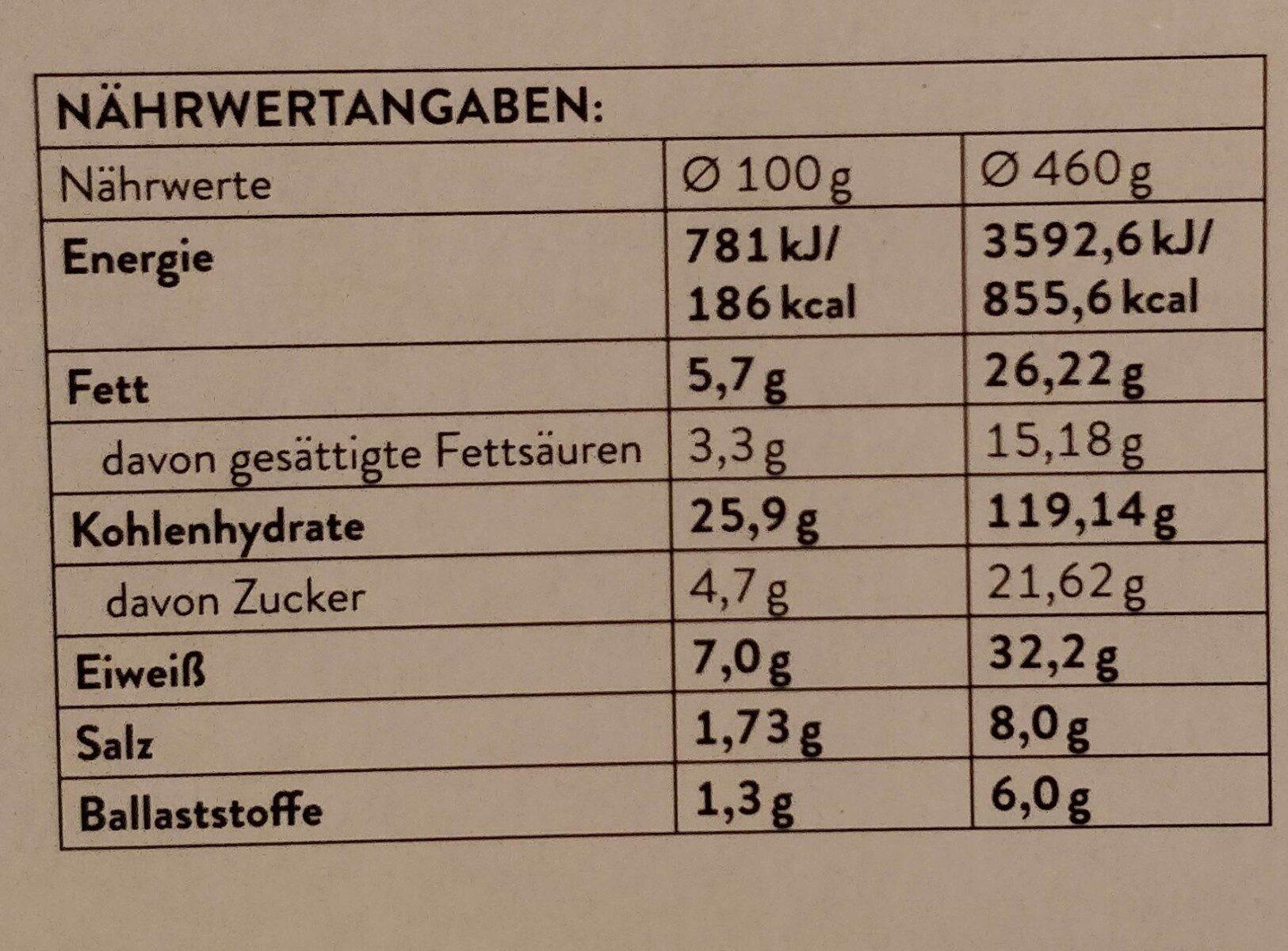 Eine Echete Steinofenbarung - Prosciutto E Funghi - Nutrition facts