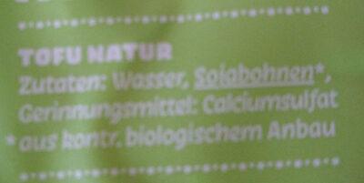Naturtofu aus Berlin - Ingrédients - de