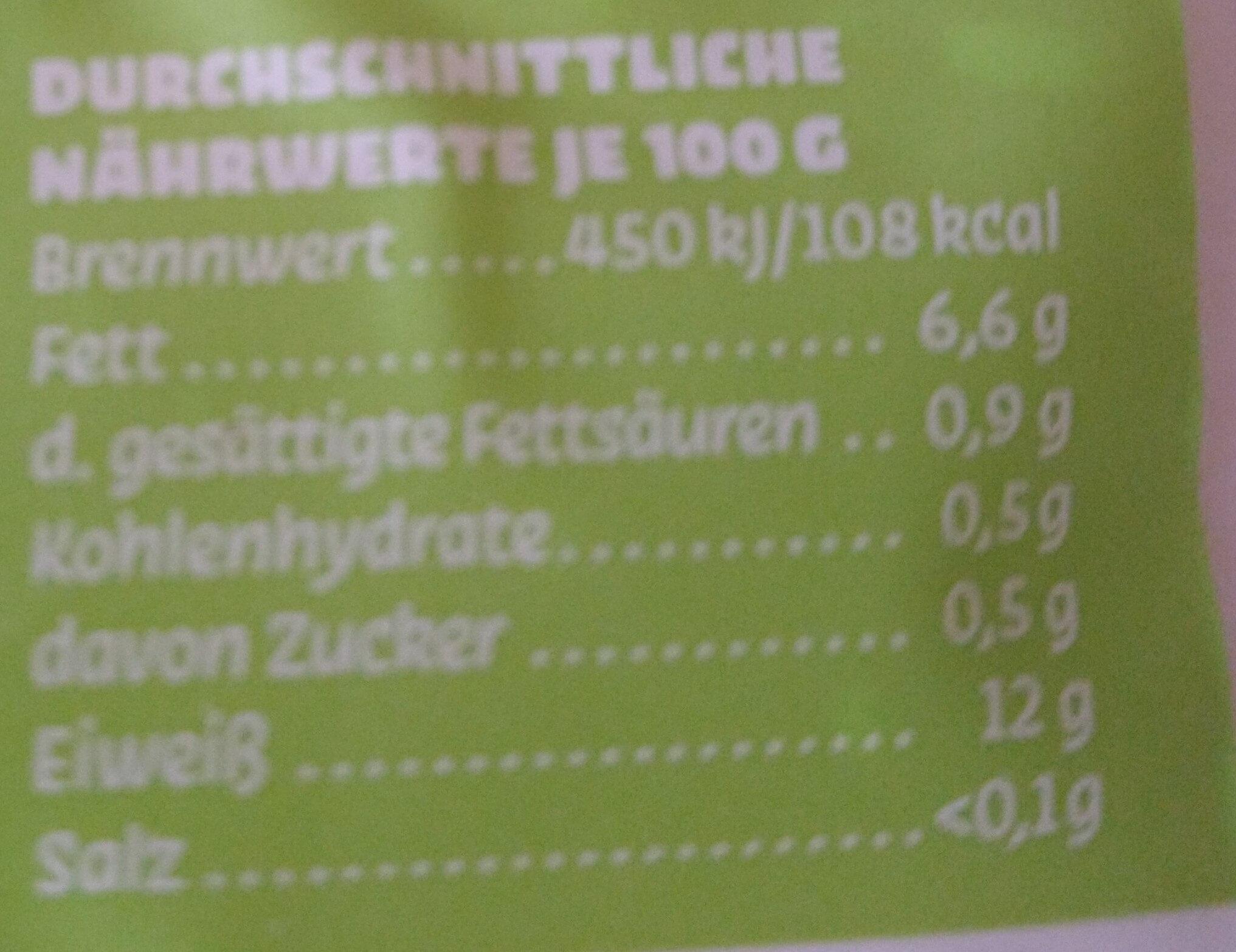 Naturtofu aus Berlin - Informations nutritionnelles - de