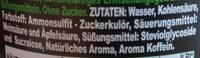 green cola - Ingredienti - de