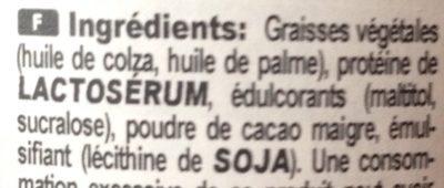Protein Crème - Ingrédients