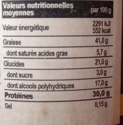 Protein Crème - Informations nutritionnelles