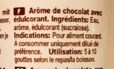Flavor Drops chocolat - Ingrédients - fr