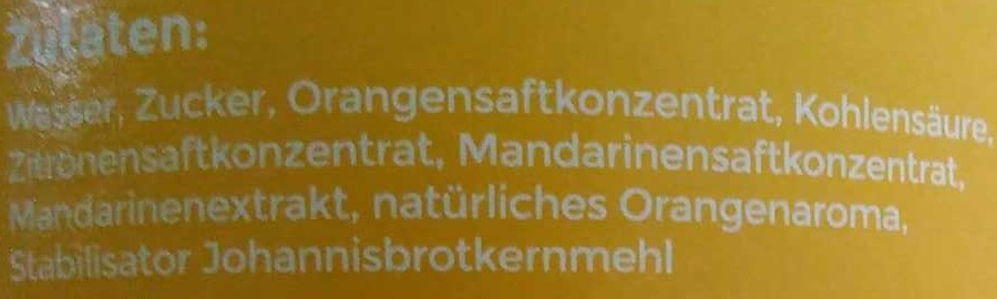Angeliter Orangenlimonade - Ingrediënten