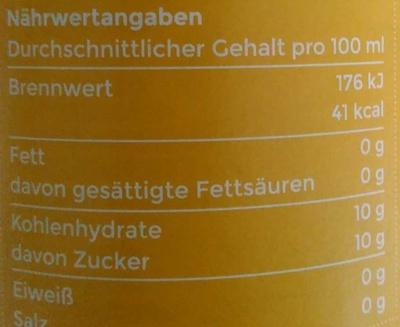 Angeliter Orangenlimonade - Voedingswaarden