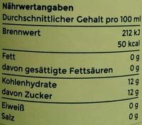 Angeliter Zitronenlimonade - Informations nutritionnelles - de