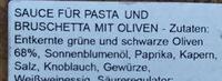 Antipasti - Oliven Bruschetta - Brotaufstrich - Ingredients