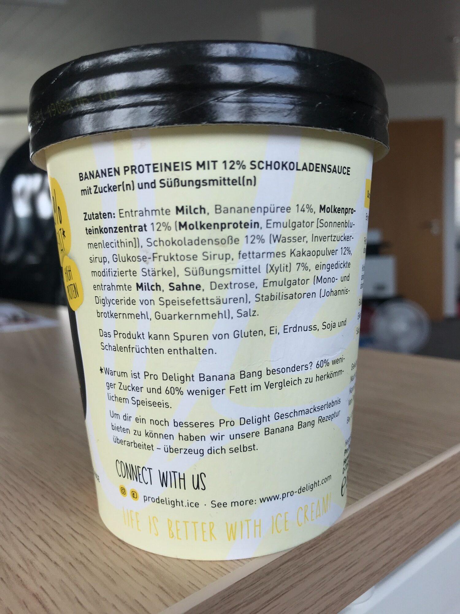 Pro Delight Banana Bang 500 ml - Ingredients