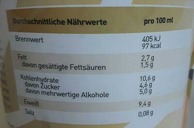 Pro Delight Lady Cinnamon 500 ml - Nutrition facts