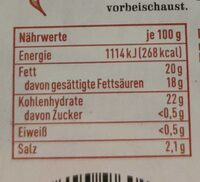 Simply Paprika-Chili - Valori nutrizionali - de