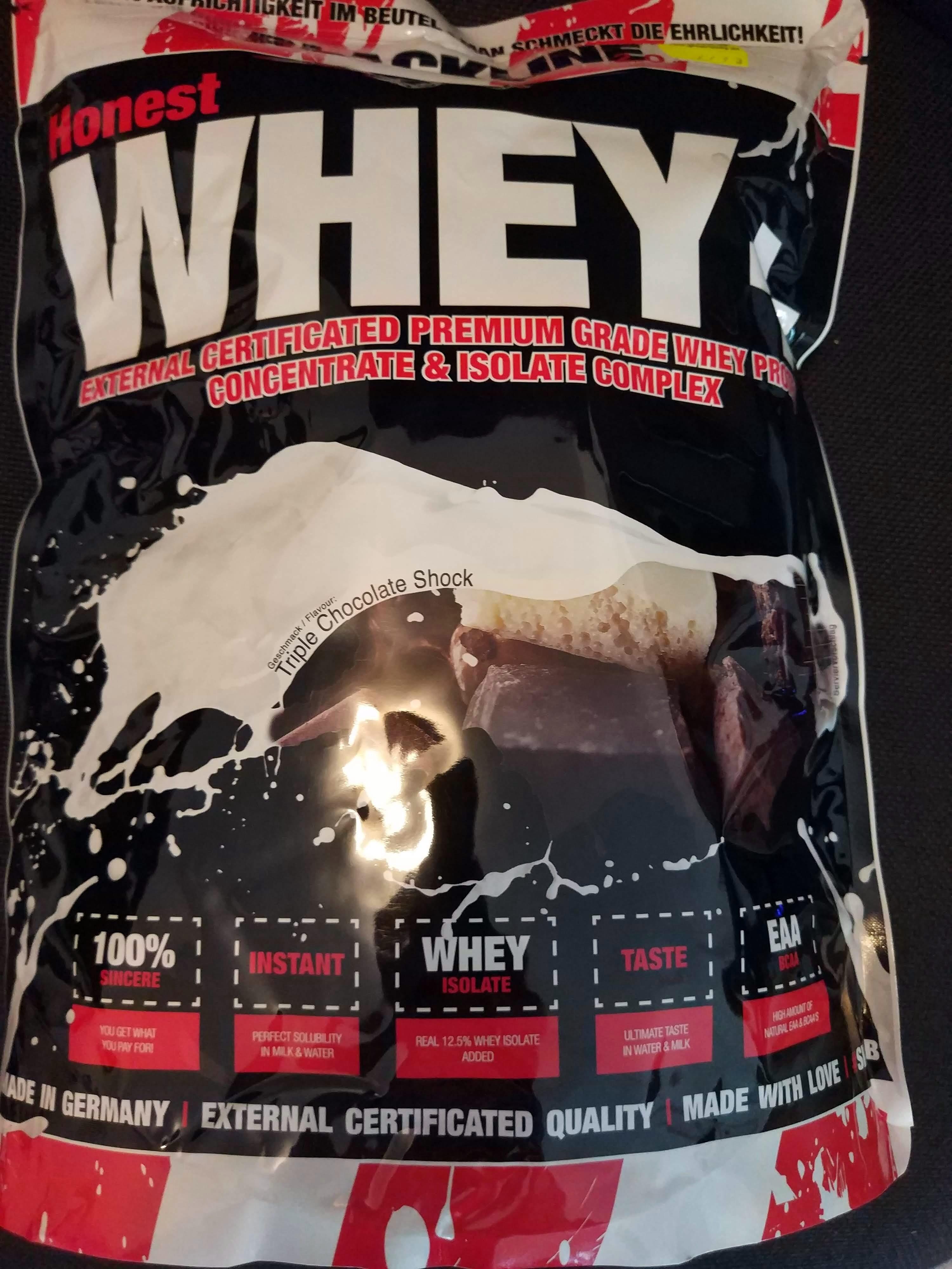 Honest Whey Triple Chocolate Shock - Product