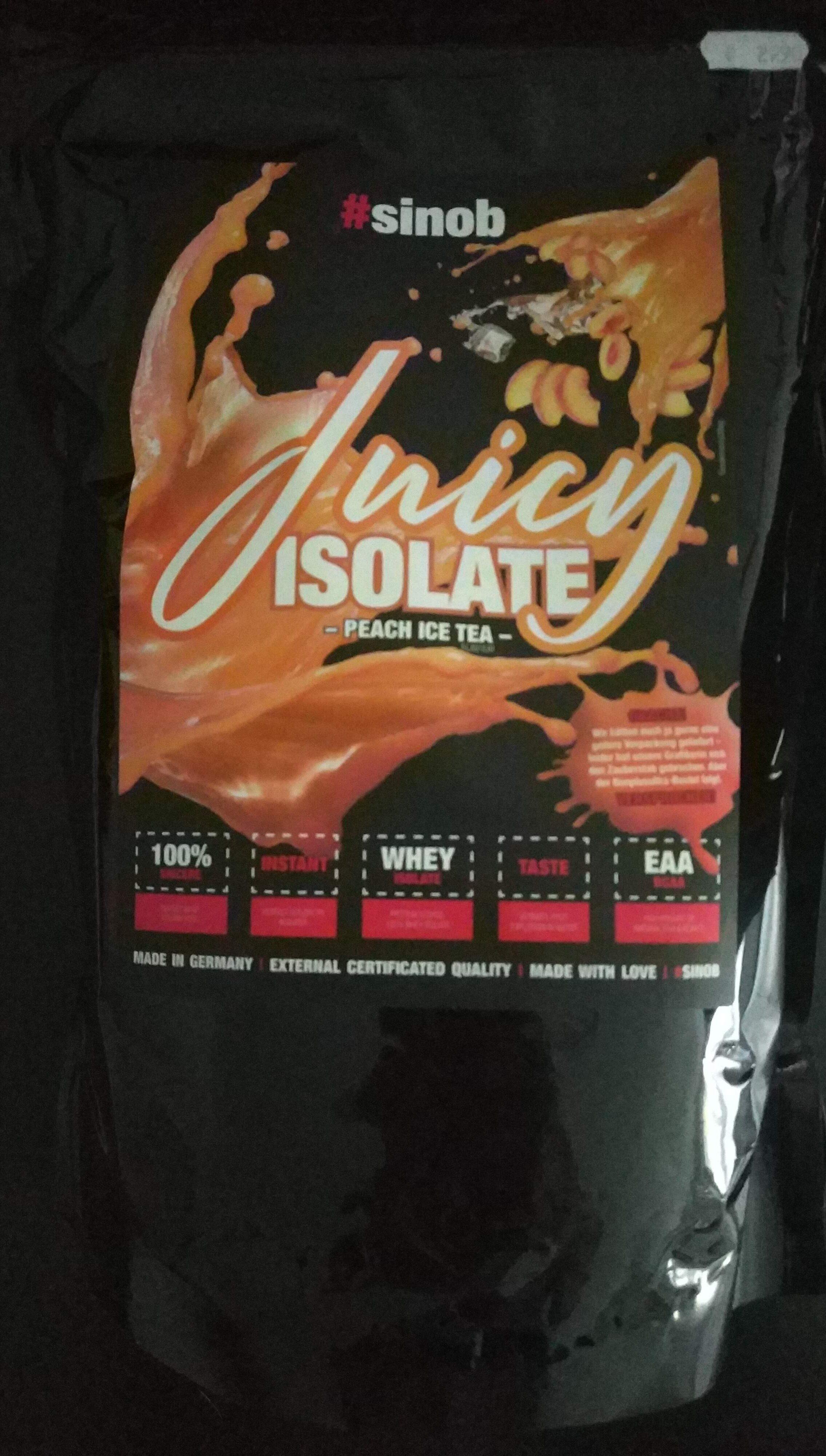 Juicy Isolate Peach Ice Tea - Product