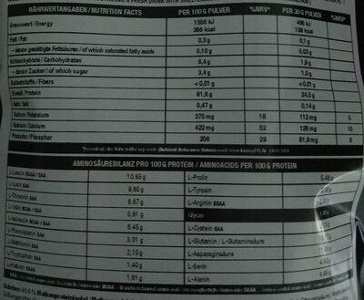 Juicy Isolate Peach Ice Tea - Nutrition facts