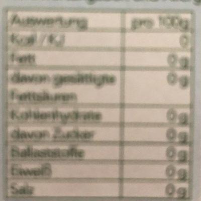 Betthupferl Tee - Nährwertangaben