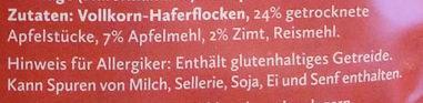 Porridge Zimtiger Apfel - Ingrédients - de