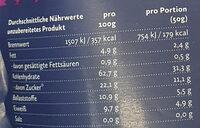 Porridge genau richtig, dreierlei Beere - Informations nutritionnelles
