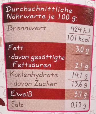 Frischer Kirsch Jogurt - Informations nutritionnelles - de