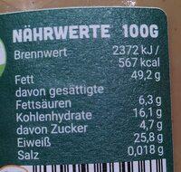 Erdnuss - Nutrition facts - de