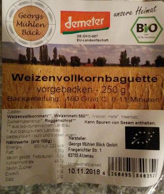 Weizenvollkornbaguette - Produkt