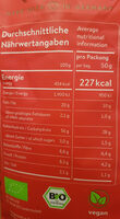 Dragon Spice Poocorn - Nutrition facts