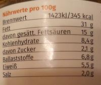 Besser als Teewurst - Voedingswaarden - de