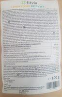 Tea lemon gingee - Voedingswaarden - fr