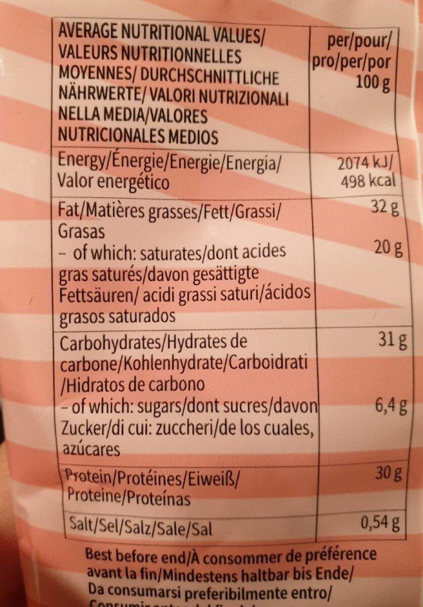 White chocolate protein snack - Información nutricional - es
