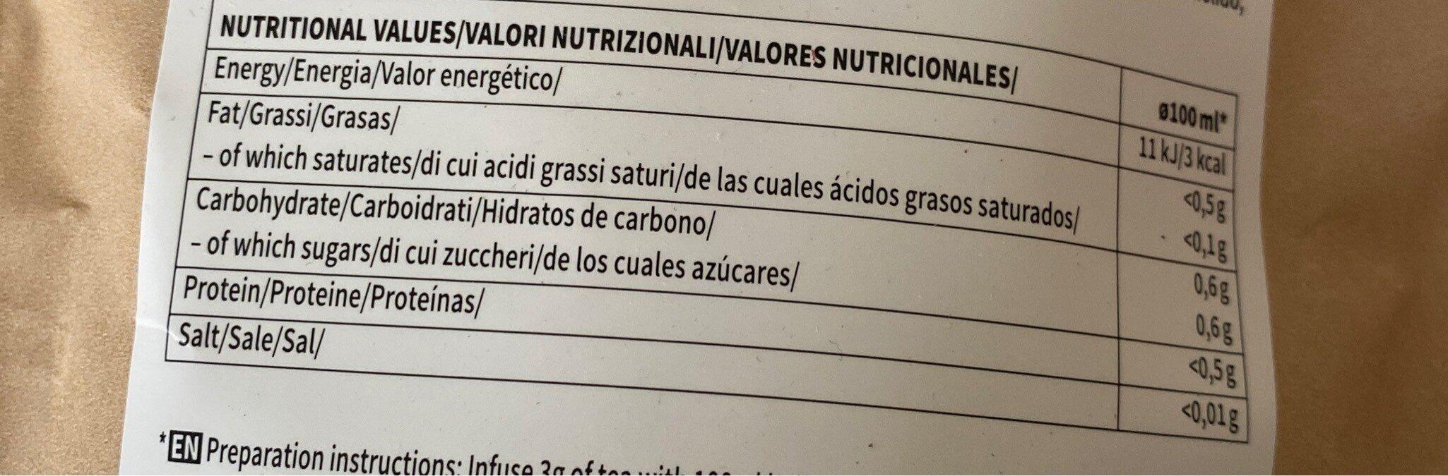 citrus anti cellulite - Información nutricional - es