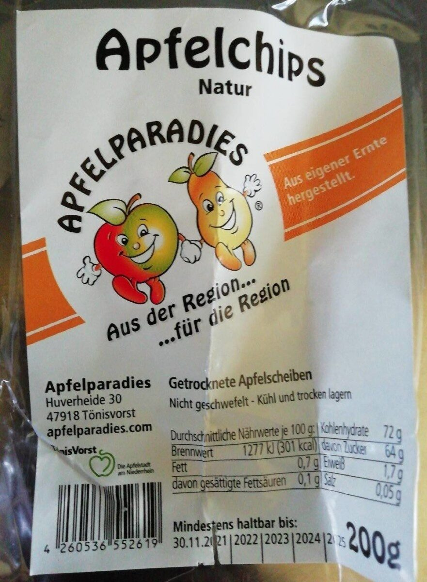 Apfelchips Natur - Produit - de