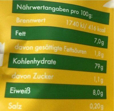 Reis Cracker Cheese & Chive - Valori nutrizionali - de